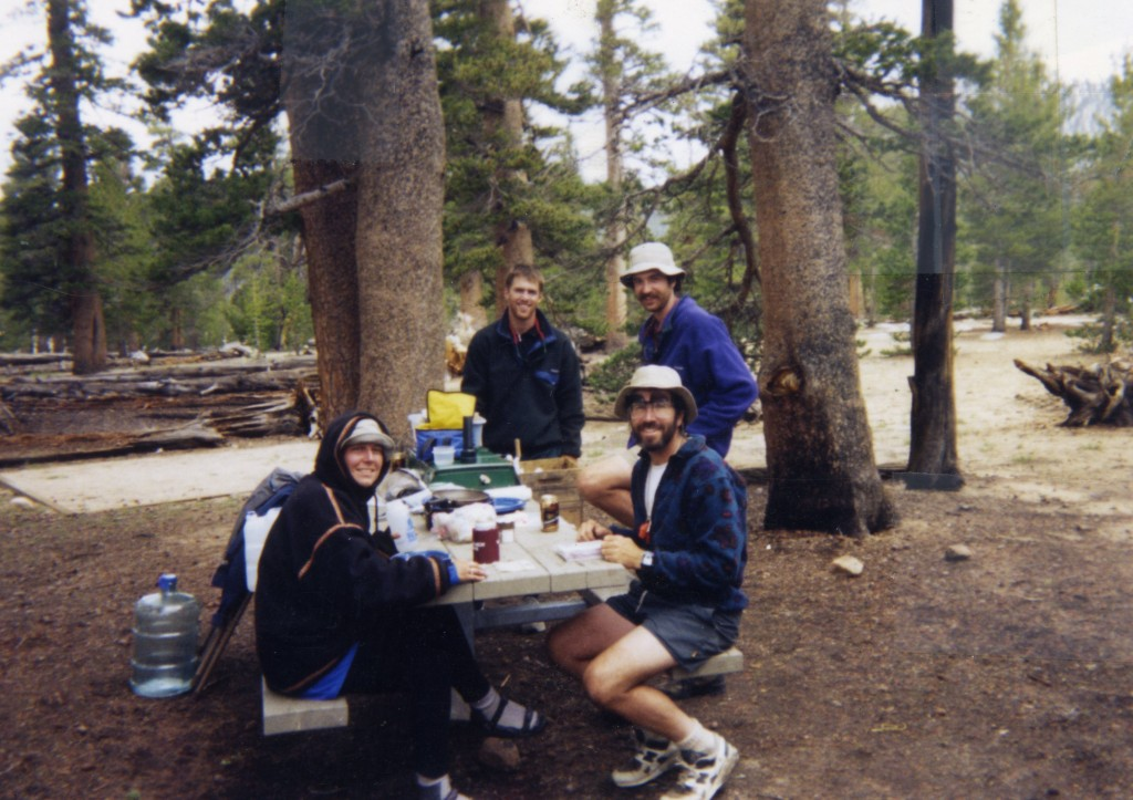At Trail Pass in 1995: Cheryl Strayed, Doug, Pete and Roger Carpenter. Photo by Meadow Ed Faubert.