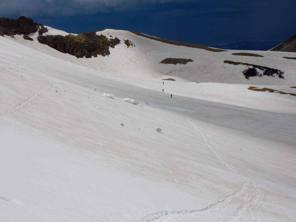 Remnants of avalanch activity near Summit Peak