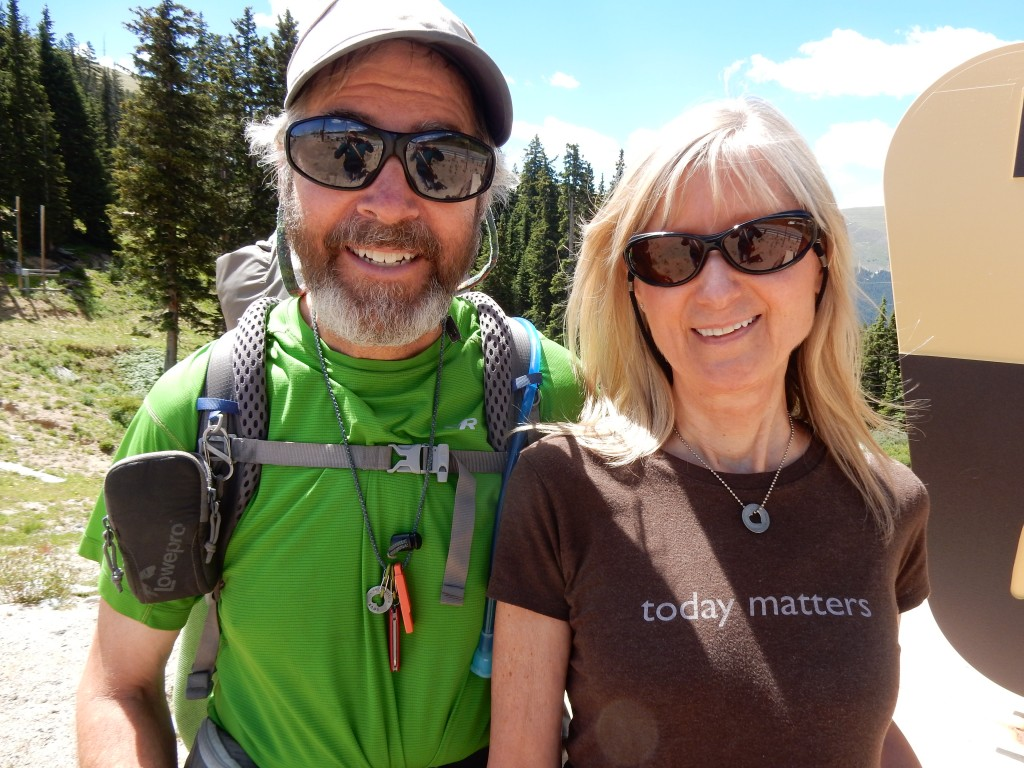Cindy and I at Berthoud Pass on July 8